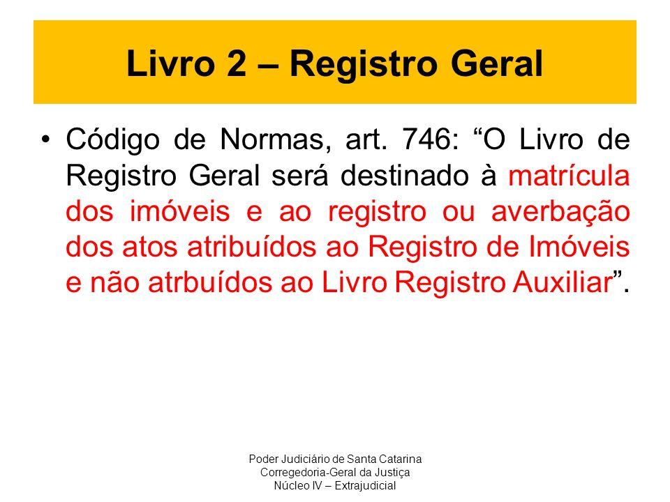 Livro 2 – Registro Geral