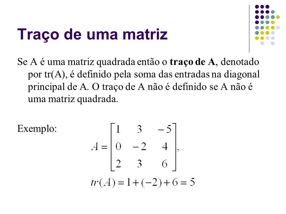 Traço de uma matriz