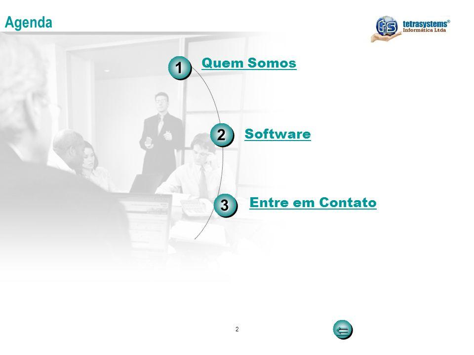 Agenda 1 Quem Somos 2 Software 3 Entre em Contato  2