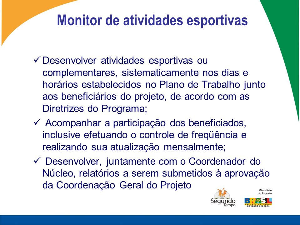 Monitor de atividades esportivas