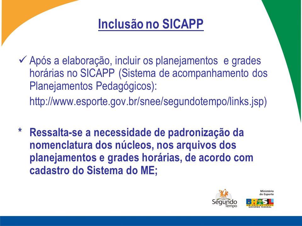 Inclusão no SICAPP