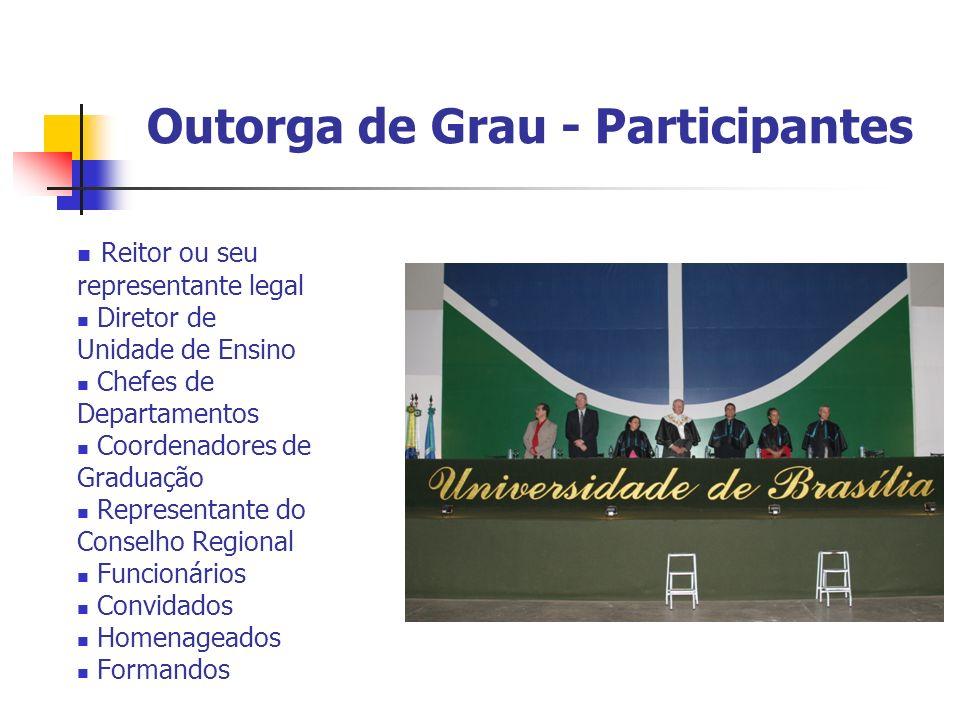 Outorga de Grau - Participantes