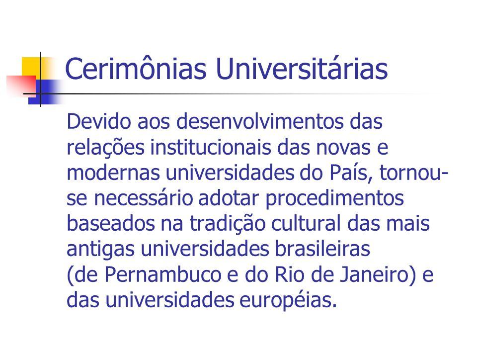 Cerimônias Universitárias