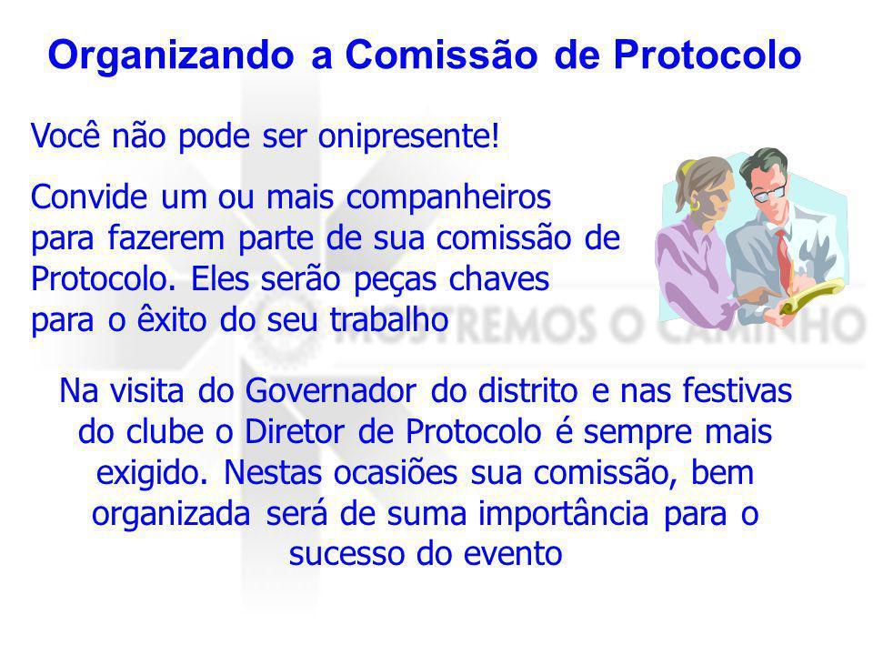 Organizando a Comissão de Protocolo
