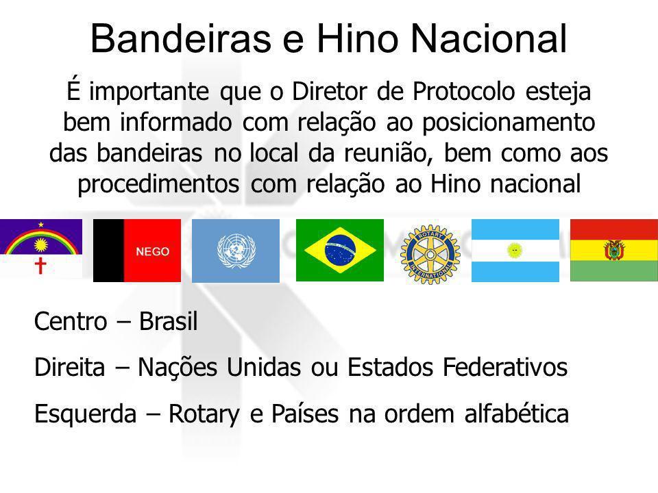 Bandeiras e Hino Nacional