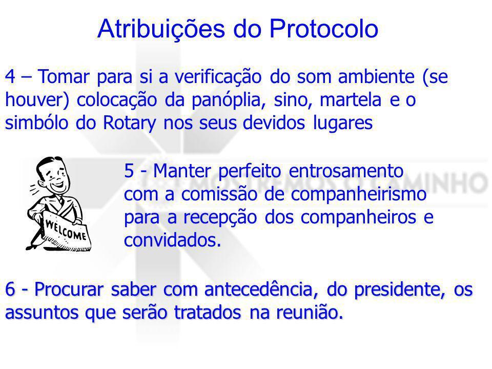 Atribuições do Protocolo
