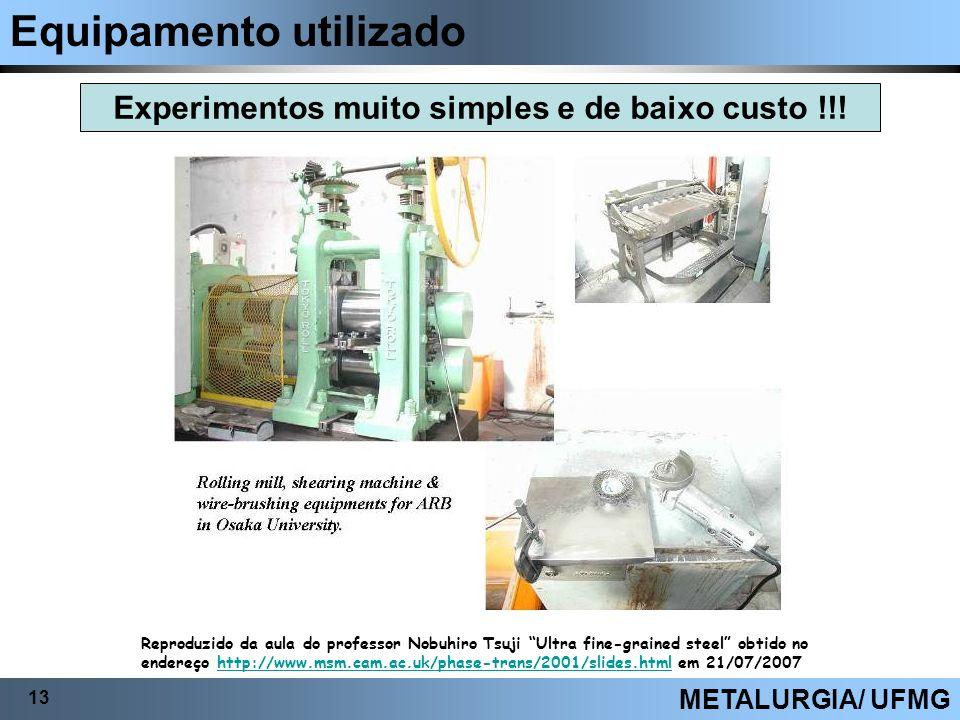 Experimentos muito simples e de baixo custo !!!