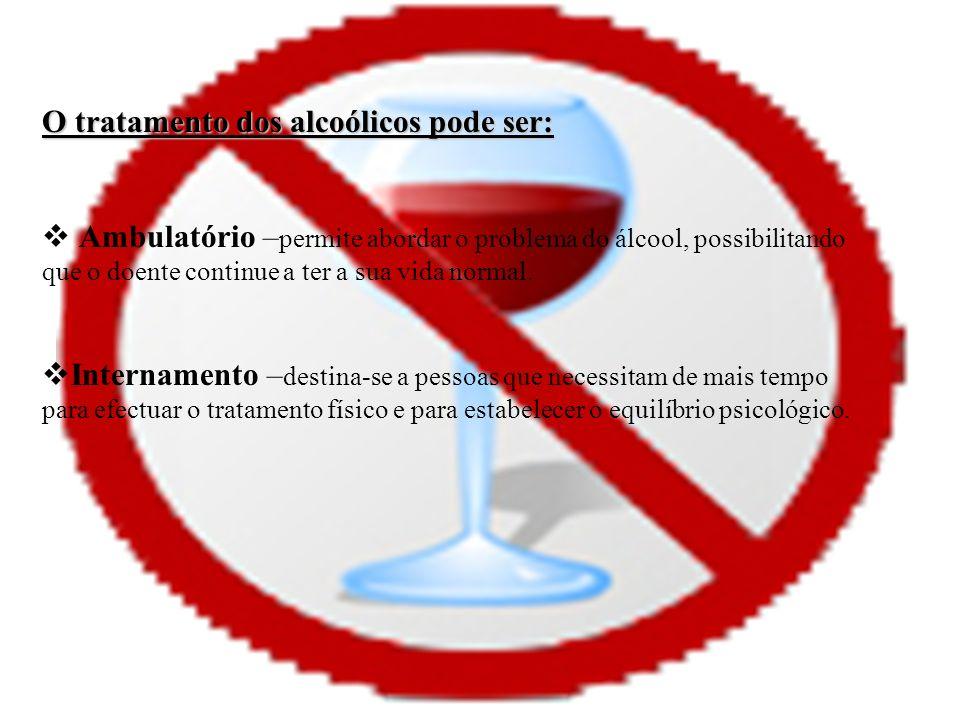O tratamento dos alcoólicos pode ser: