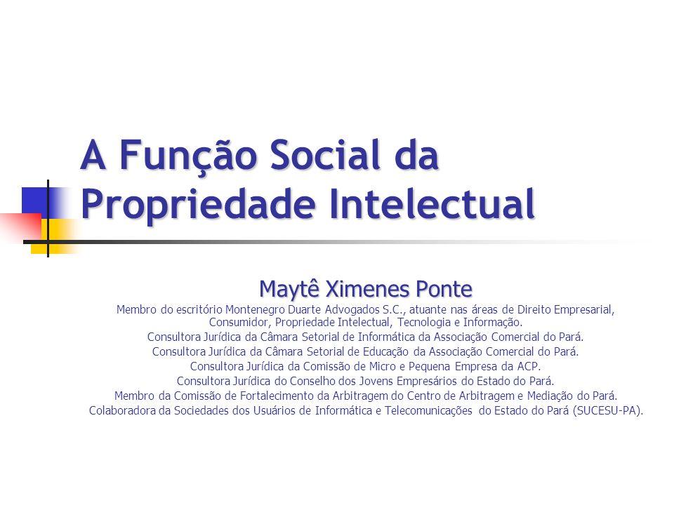 A Função Social da Propriedade Intelectual