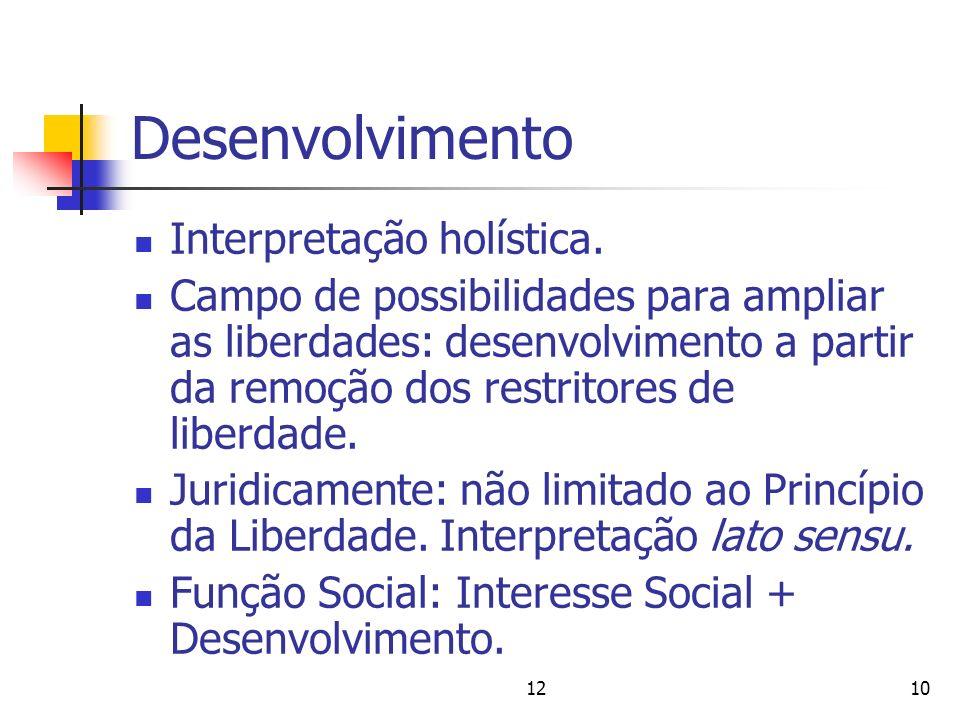 Desenvolvimento Interpretação holística.
