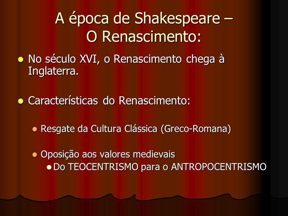 A época de Shakespeare – O Renascimento: