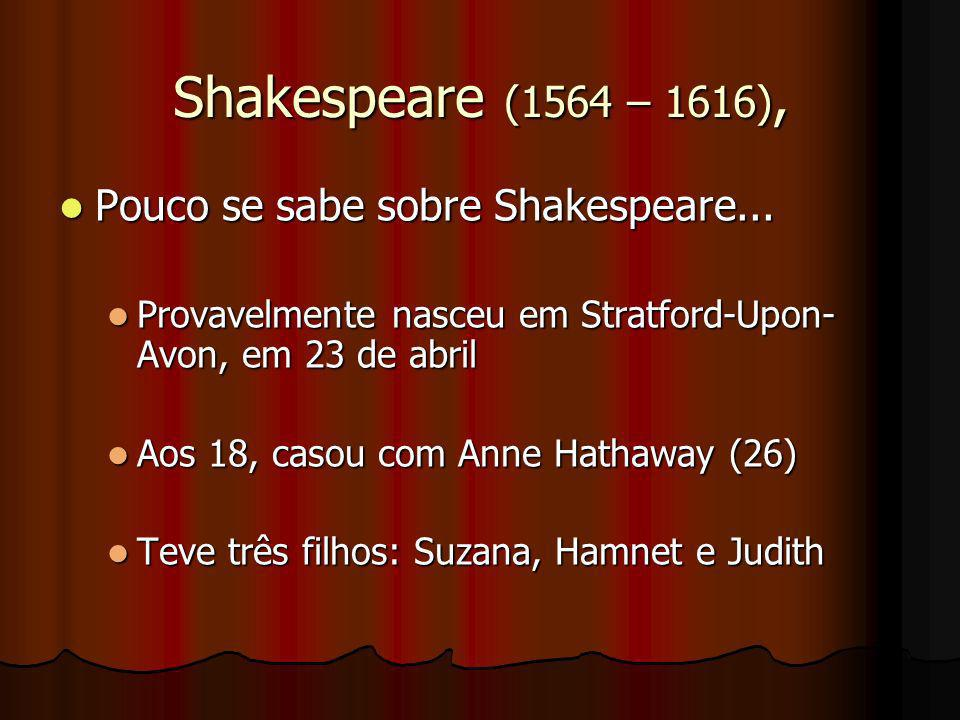 Shakespeare (1564 – 1616), Pouco se sabe sobre Shakespeare...