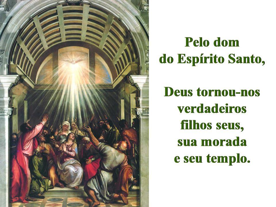 Pelo dom do Espírito Santo,