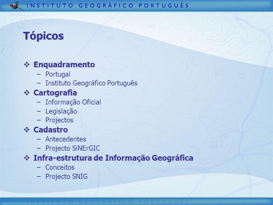 Tópicos Enquadramento Cartografia Cadastro