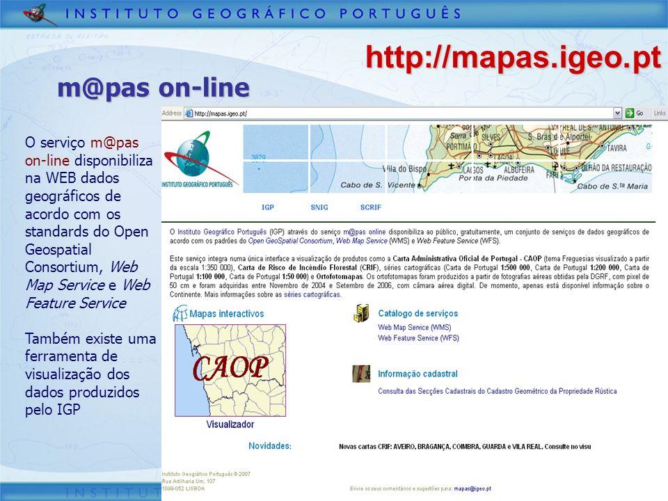 http://mapas.igeo.pt m@pas on-line