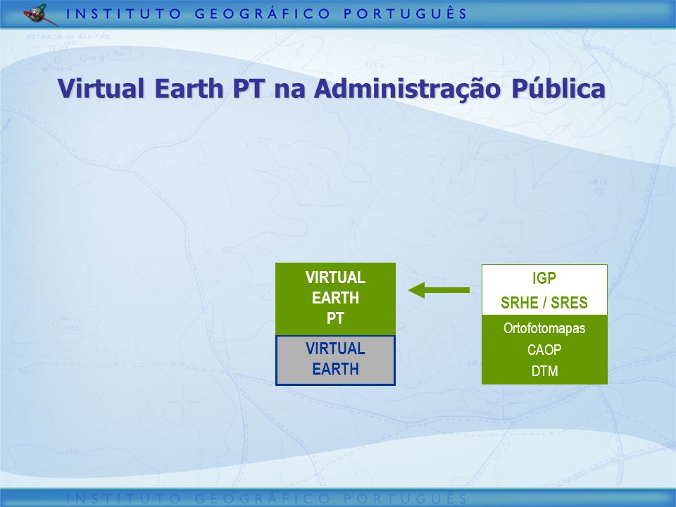 Virtual Earth PT na Administração Pública