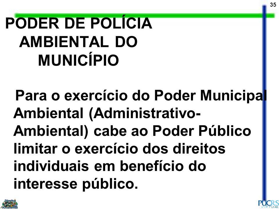 PODER DE POLÍCIA AMBIENTAL DO MUNICÍPIO