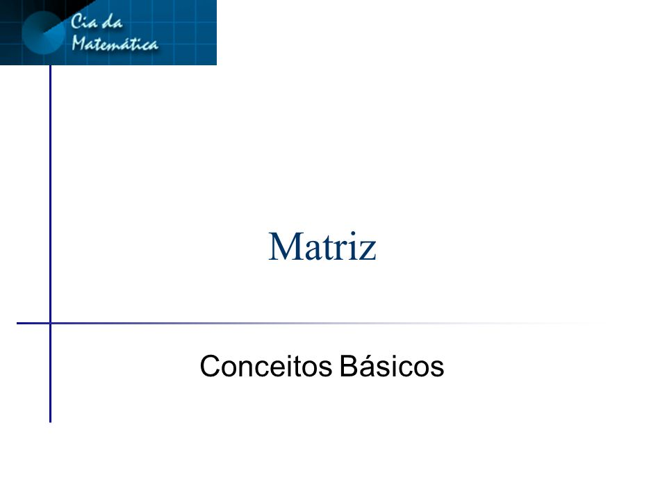 Matriz Conceitos Básicos