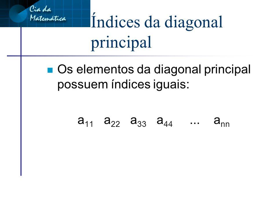 Índices da diagonal principal