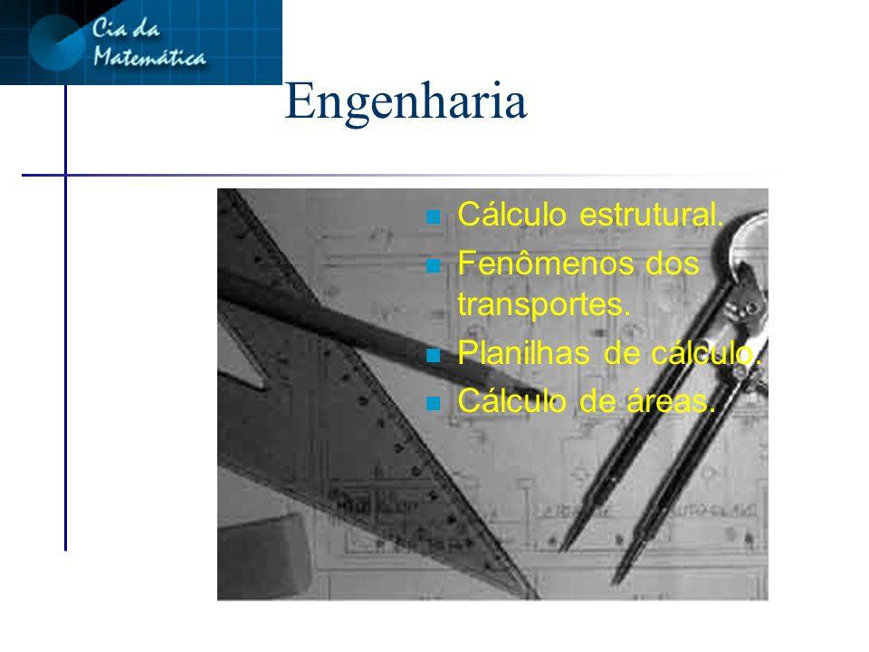 Engenharia Cálculo estrutural. Fenômenos dos transportes.