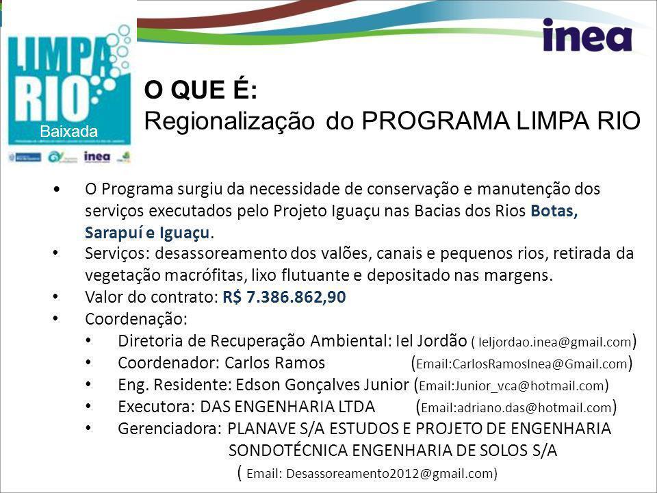 Regionalização do PROGRAMA LIMPA RIO
