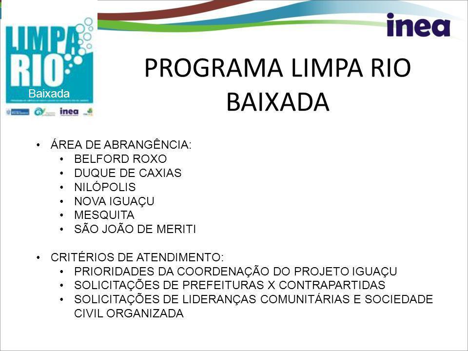 PROGRAMA LIMPA RIO BAIXADA