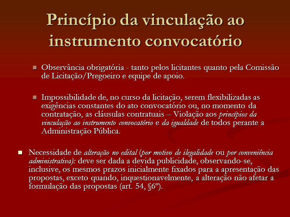 Princípio da vinculação ao instrumento convocatório