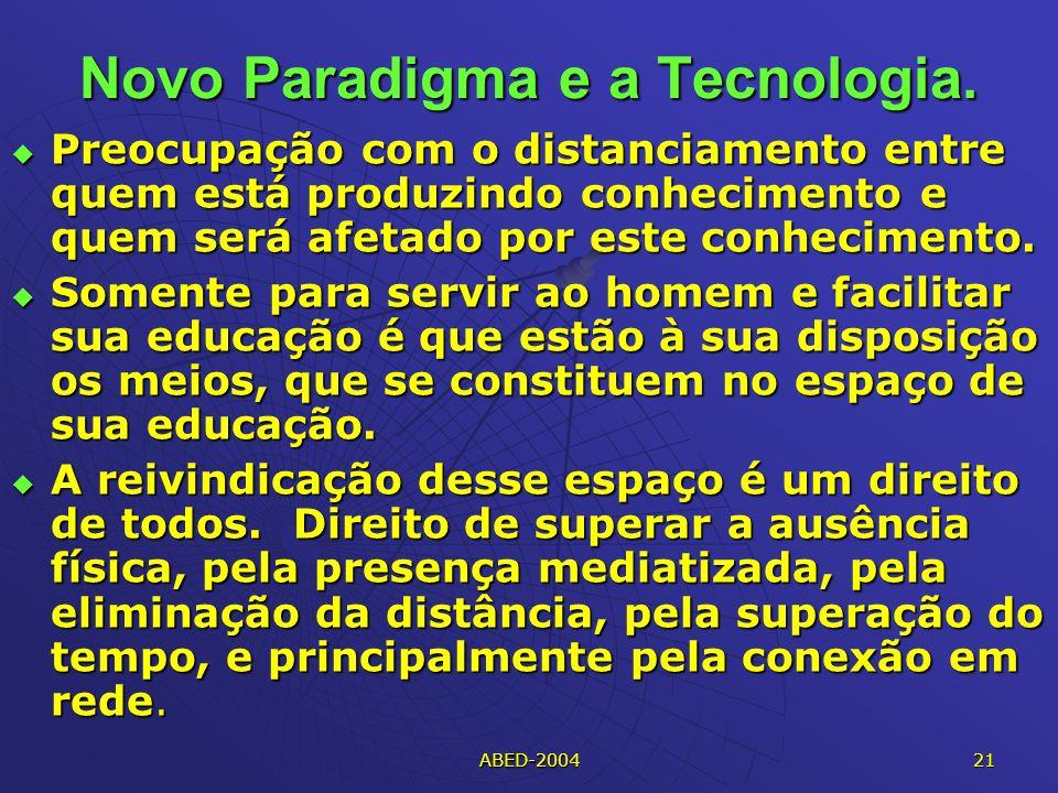 Novo Paradigma e a Tecnologia.
