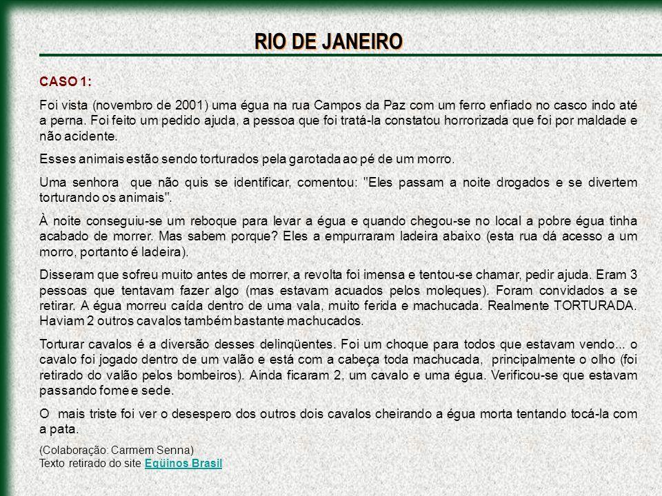 RIO DE JANEIRO CASO 1: