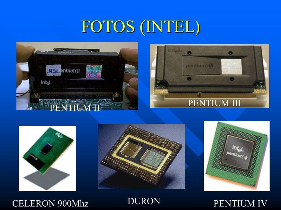FOTOS (INTEL) PENTIUM III PENTIUM II DURON CELERON 900Mhz PENTIUM IV