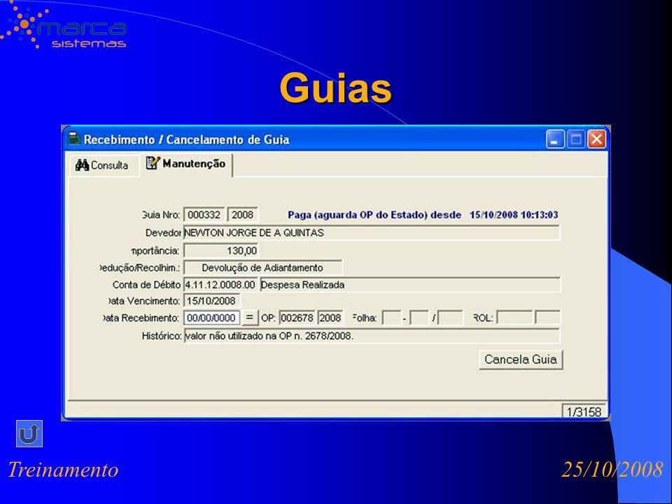 Guias Treinamento 25/10/2008