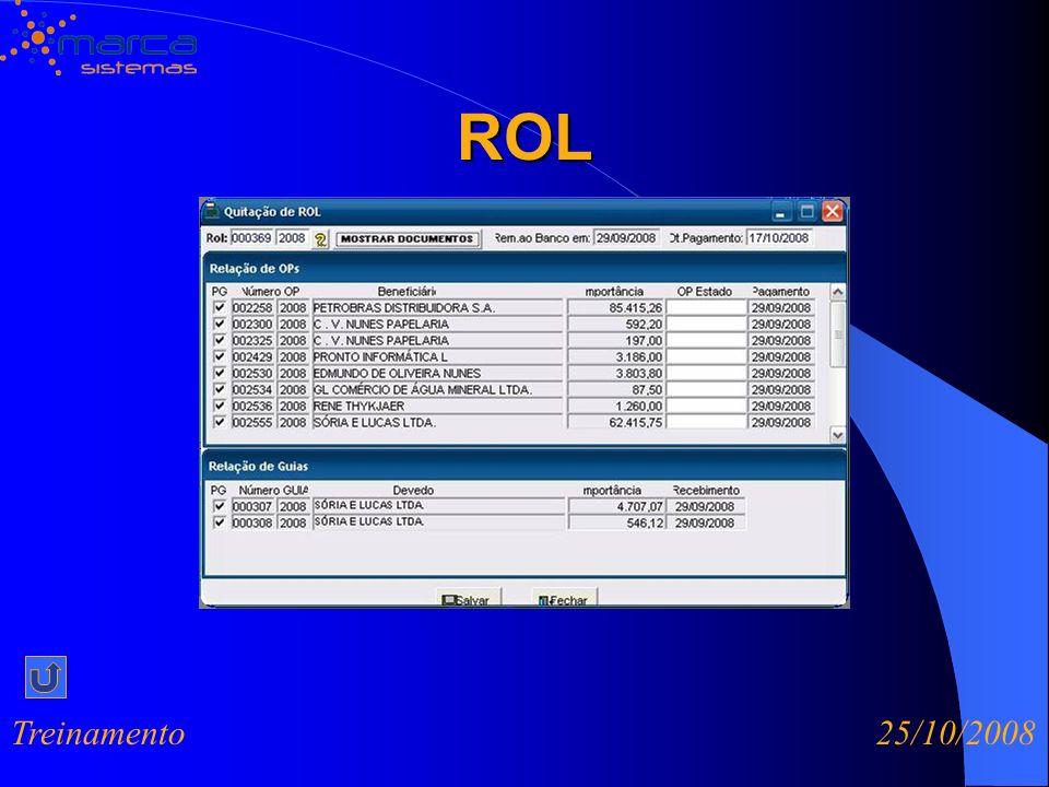 ROL Treinamento 25/10/2008