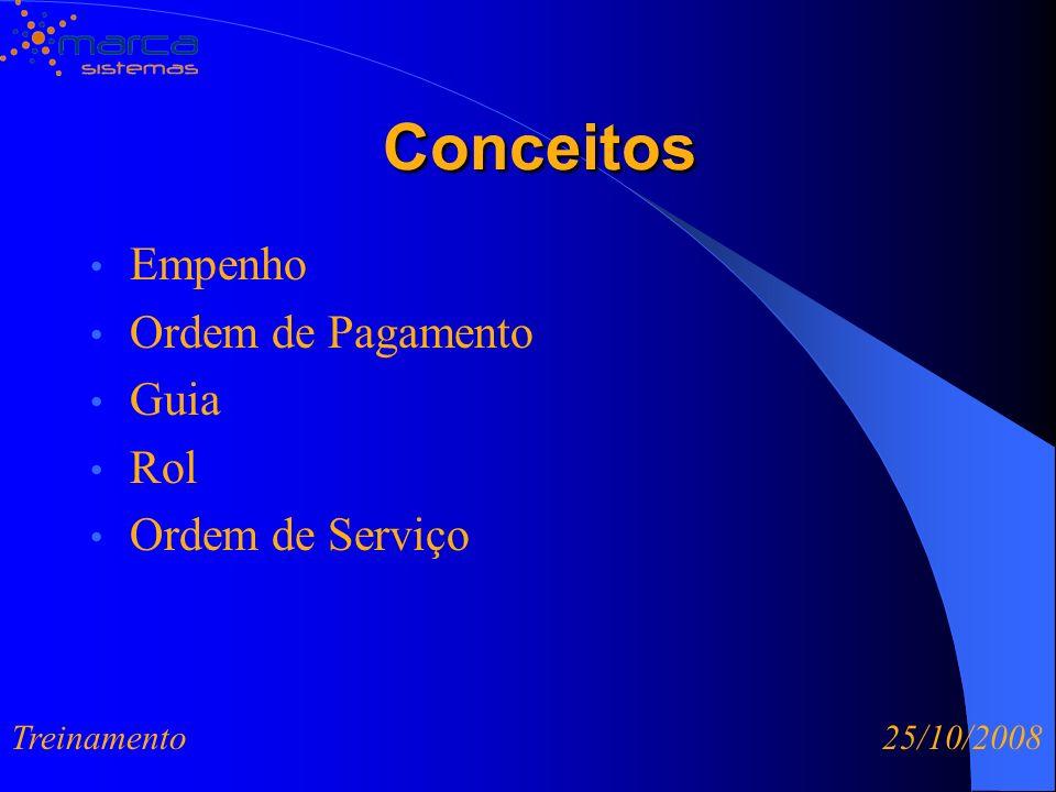 Conceitos Empenho Ordem de Pagamento Guia Rol Ordem de Serviço