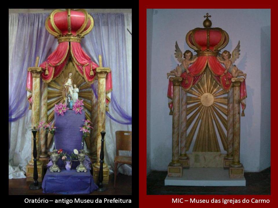 Thelma diz Oratório – antigo Museu da Prefeitura MIC – Museu das Igrejas do Carmo