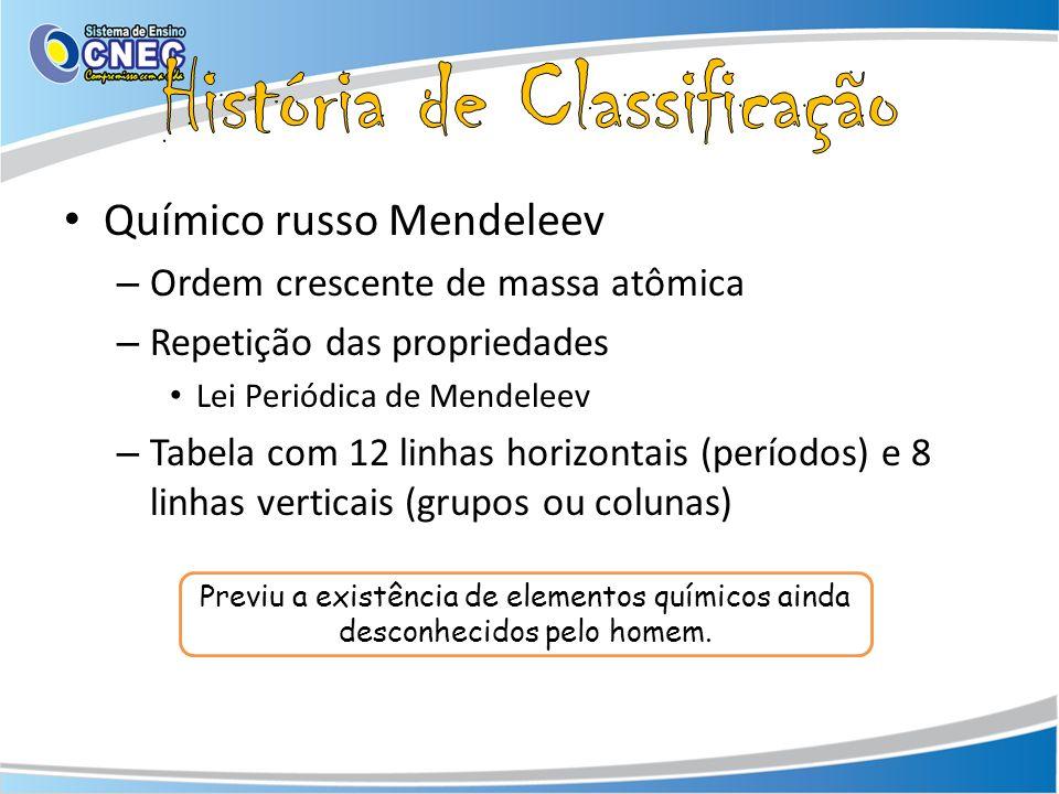 História de Classificação