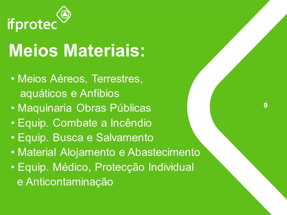 Meios Materiais: Meios Aéreos, Terrestres, aquáticos e Anfíbios