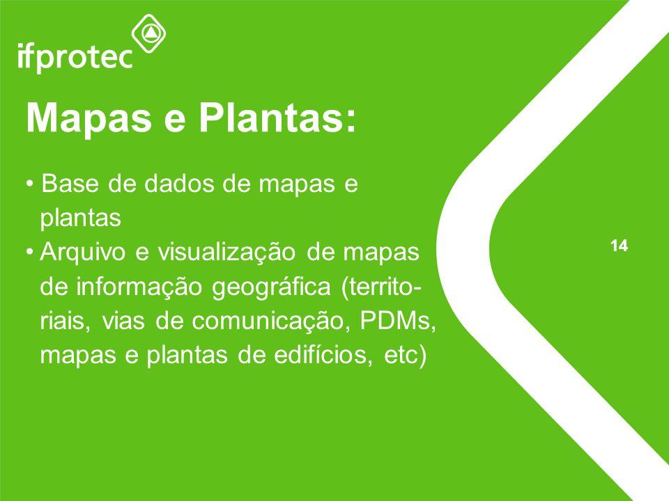 Mapas e Plantas: Base de dados de mapas e plantas