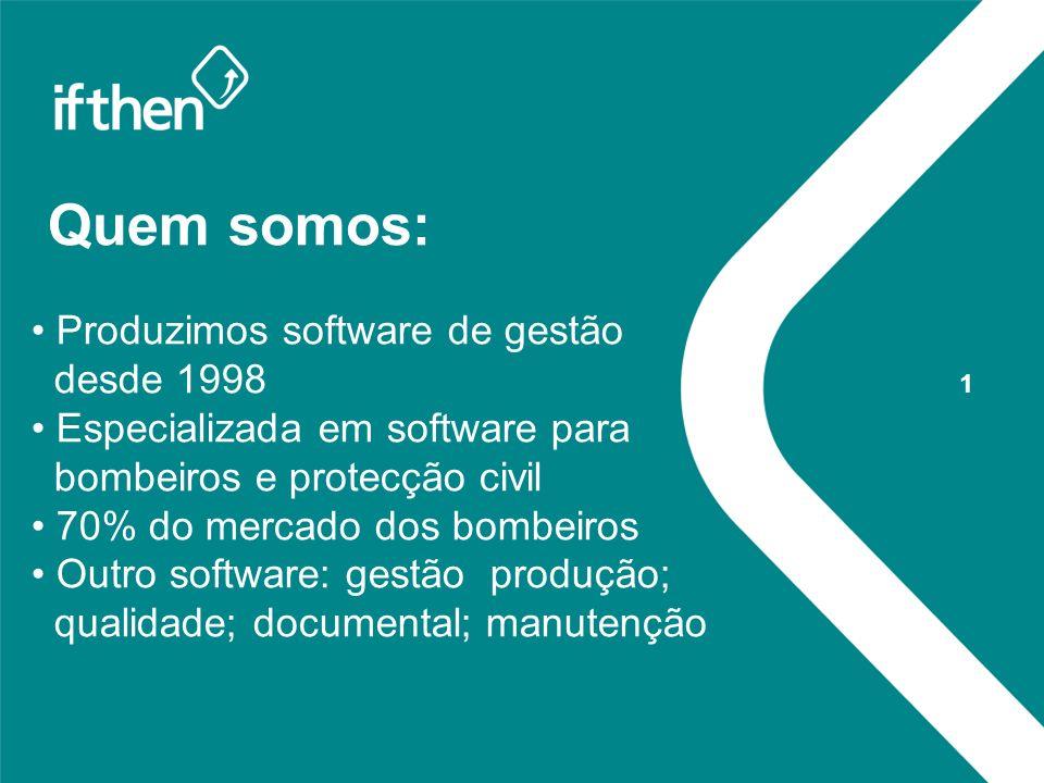 Quem somos: Produzimos software de gestão desde 1998