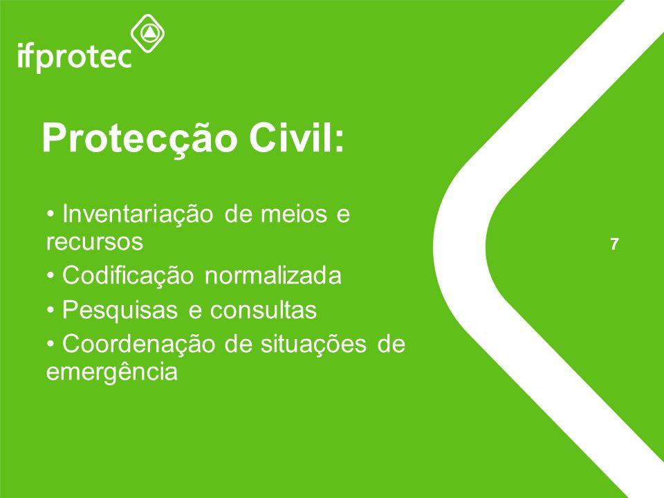 Protecção Civil: Inventariação de meios e recursos