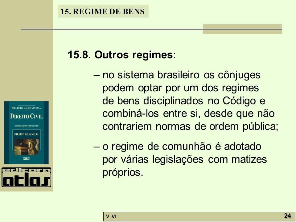 15.8. Outros regimes: