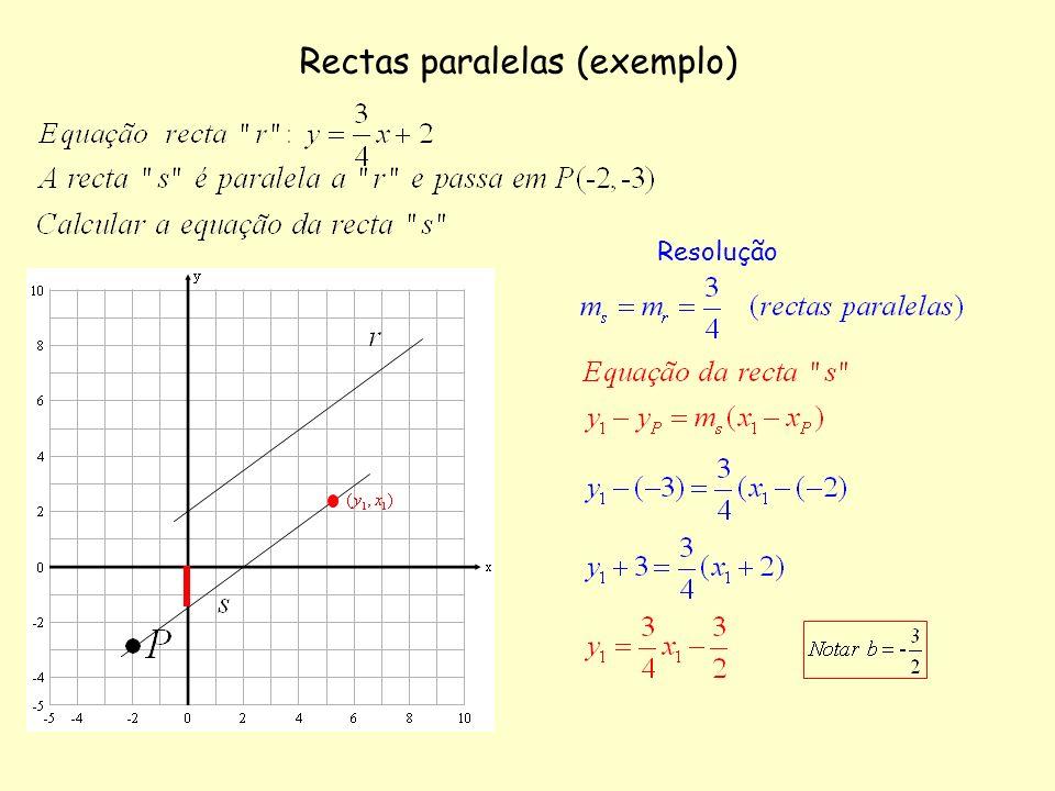 Rectas paralelas (exemplo)