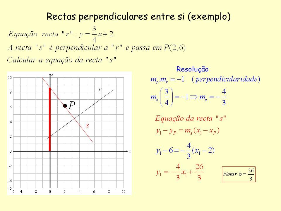 Rectas perpendiculares entre si (exemplo)