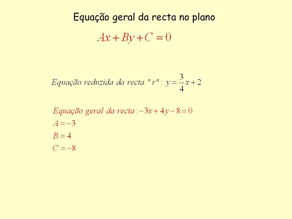 Equação geral da recta no plano