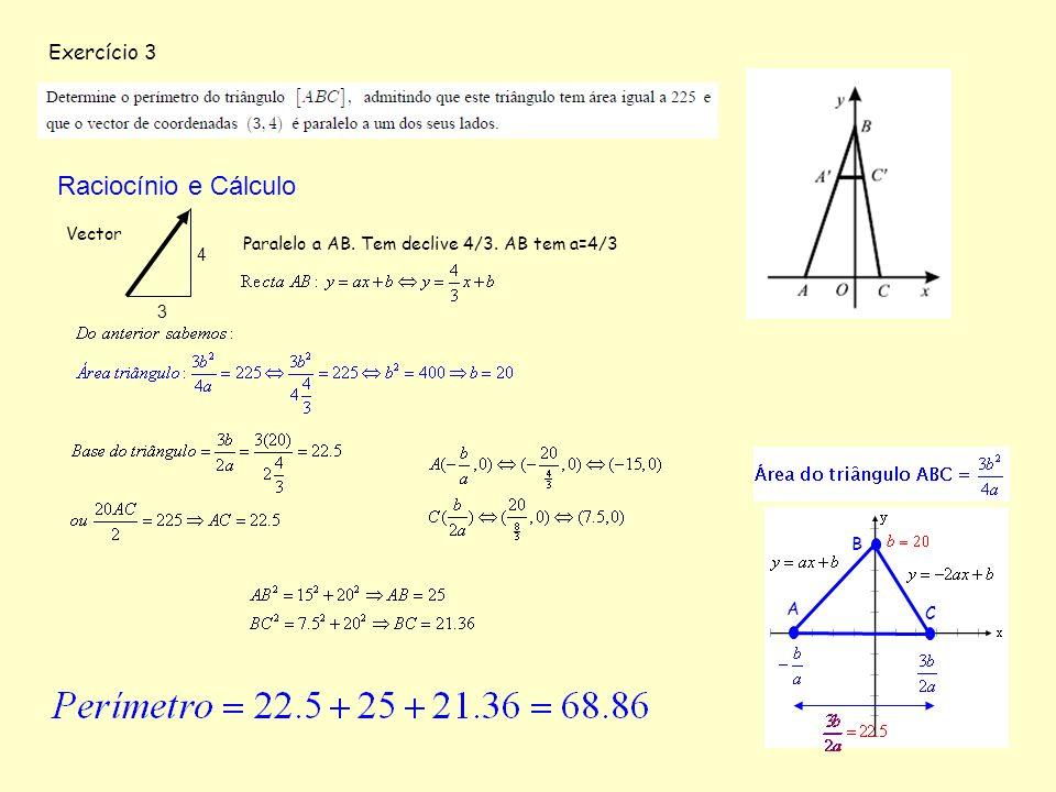 Raciocínio e Cálculo Exercício 3 Vector