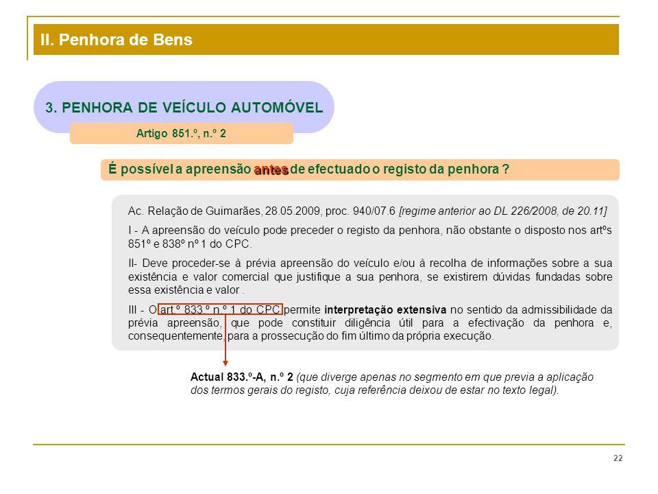 3. PENHORA DE VEÍCULO AUTOMÓVEL