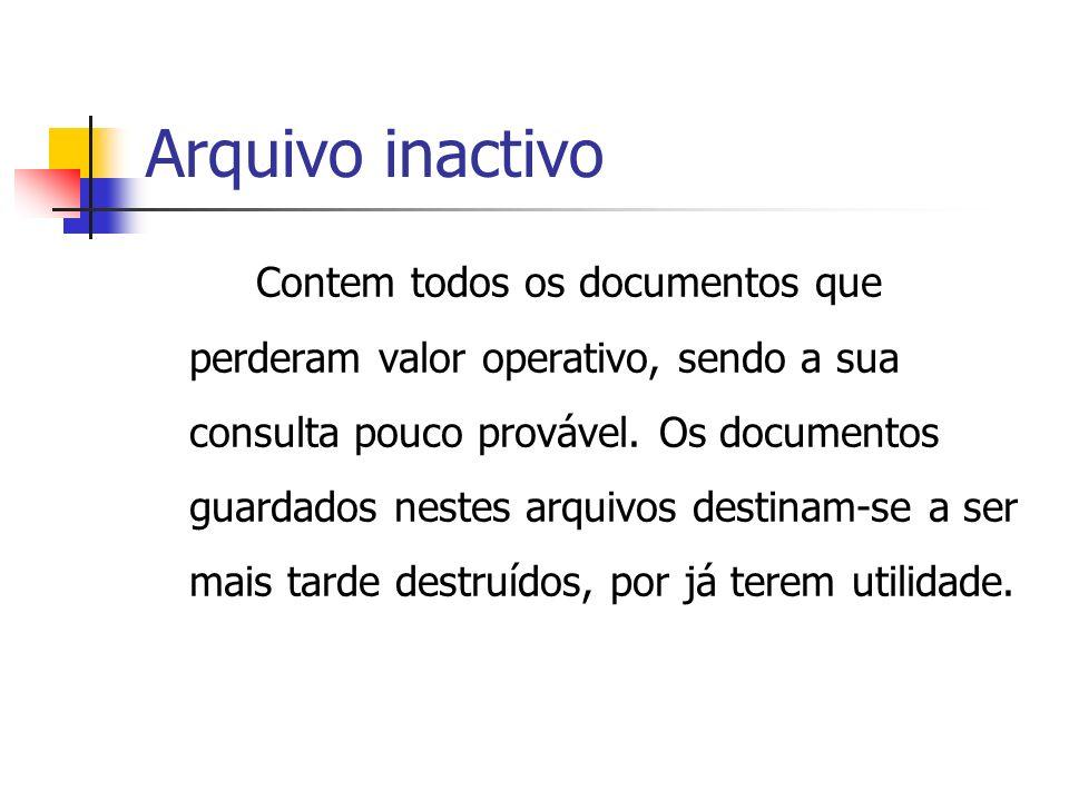 Arquivo inactivo