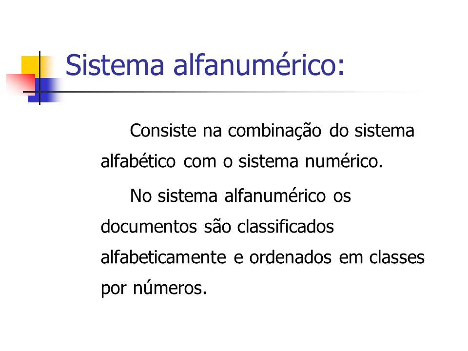 Sistema alfanumérico: