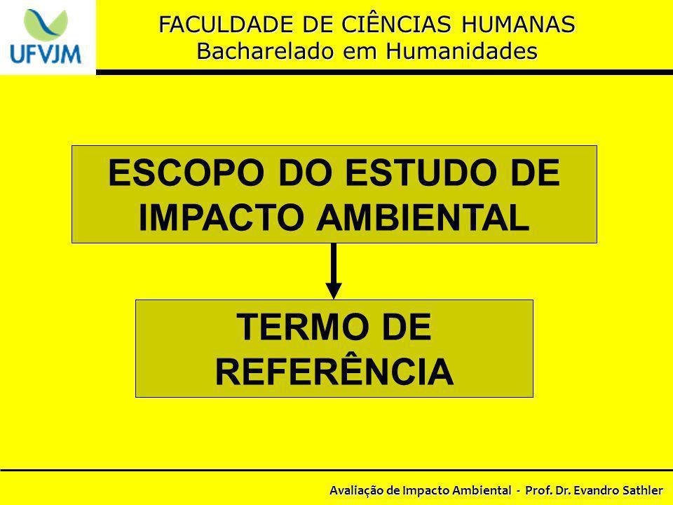 ESCOPO DO ESTUDO DE IMPACTO AMBIENTAL TERMO DE REFERÊNCIA