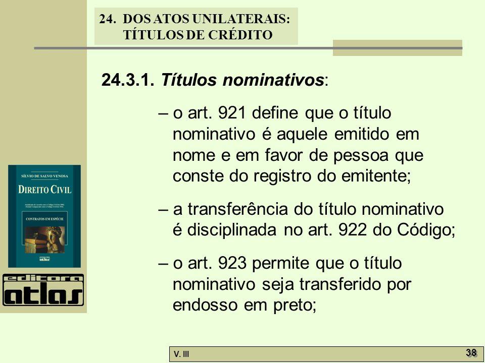 24.3.1. Títulos nominativos: