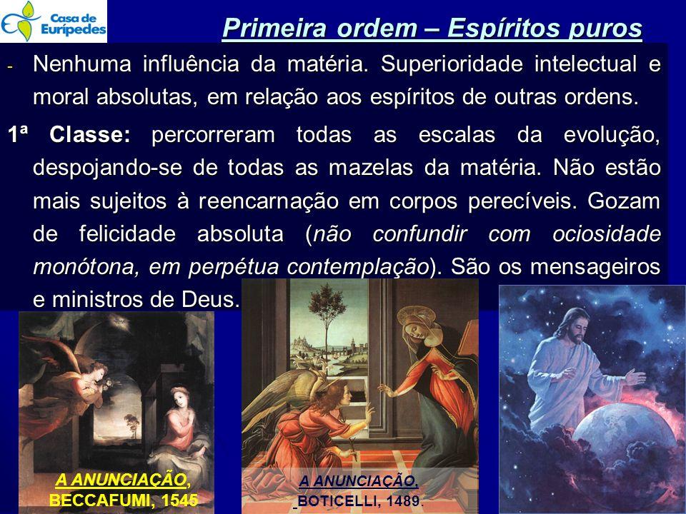 Primeira ordem – Espíritos puros